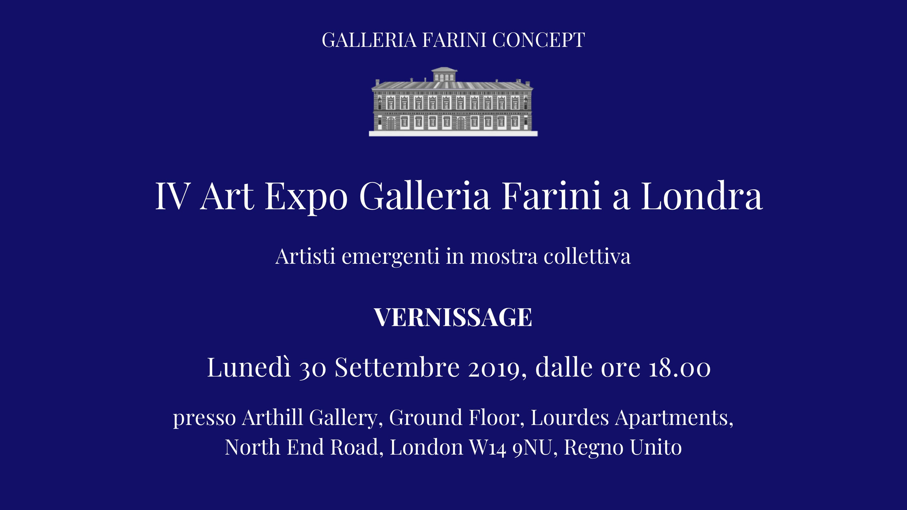 Vernissage – IV ART EXPO GALLERIA FARINI A LONDRA